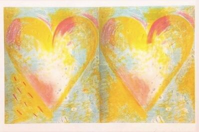Jim Dine, 'Two Hearts for Best Buddies', 1995