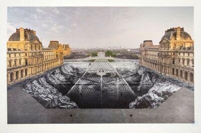 JR, 'JR au Louvre, 30 Mars 2019 (6H50)', 2019