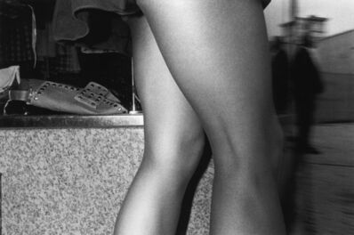 Mark Cohen, 'Bare Legs by Store', 1974