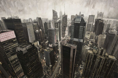 """Valerio D'Ospina, '""""Times Square From Above""""', 2018"""