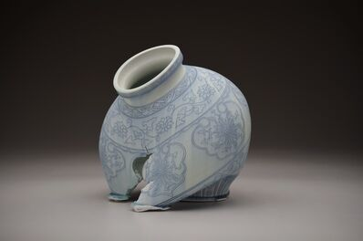 Steven Young Lee, 'Kuan Jar in Blue and White', 2016