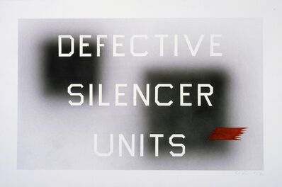 Ed Ruscha, 'Defective Silencer Units', 1992