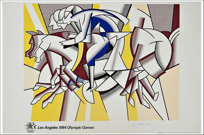 "Roy Lichtenstein, '""The Red Horseman""also titled ""The Equestrians"" for the 1984 Los Angeles Olympia Games', 1982"