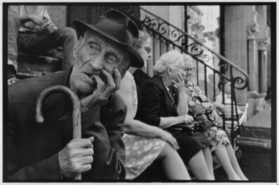 Leonard Freed, 'Man on stoop with cane  NYC ', 1972