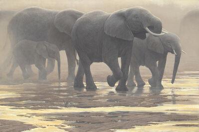 Robert Bateman, 'Elephants', 2000