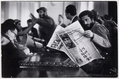 Grey Villet, 'Fidel Castro giving press conference after arriving at outskirts of Havana', 1958