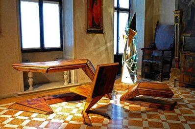 Enrico Marone Cinzano, 'Wood Desk Set'