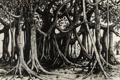 Peter Blume, 'Banyan Trees', 1961