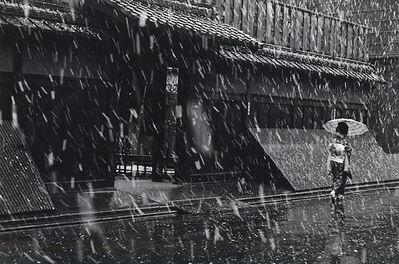 Kiichi Asano, 'In front of the tea house, Ichiriki on a Snowy Day', February 1960
