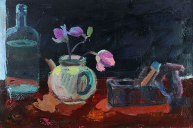 Brian Ballard, 'Bottle and Flowers'