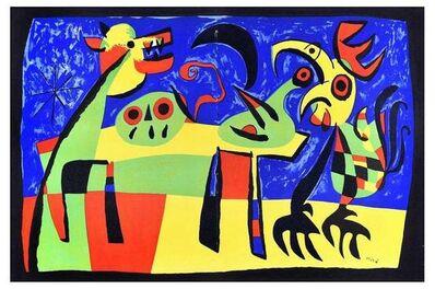 Joan Miró, 'Le Chien Aboyant à la Lune', 1952