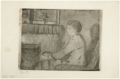 Mary Cassatt, 'Before the Fireplace (No. 2) (Breeskin 65)', ca. 1882