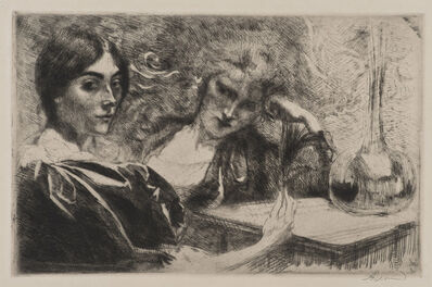 Albert Besnard, 'Morphinomanes ou Le Plumet [Morphine Addicts or The Plume]', 1887