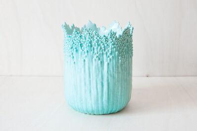Cécile Bichon, 'Cache-pot ascensionnel floral celadon', 2019