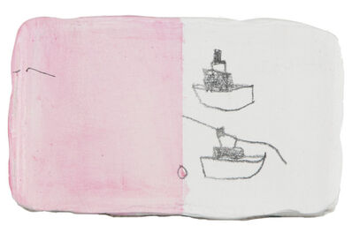 W Tucker, 'two ships with pink', 2011