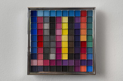 Rachel Lachowicz, 'Untitled (Color Computation: Blue, Red, Grey, Pink, Yellow)', 2012