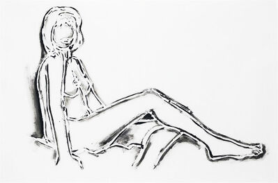 Tom Wesselmann, 'MONICA SITTING, ONE LEG ON THE OTHER', 1994
