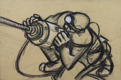Norman Cornish, 'Miner with drill ii', ca. 1965