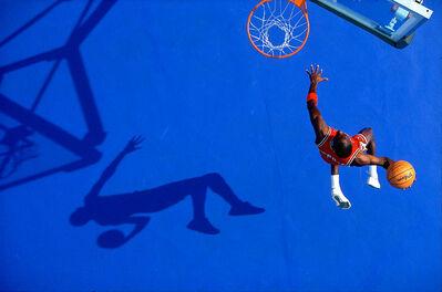 Walter Iooss, Jr., 'The Blue Dunk, Michael Jordon, Lisle, IL', 1987