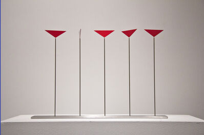 Roger Phillips, 'Five Triangles on Rods', 2015
