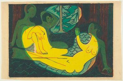 Ernst Ludwig Kirchner, 'Drei Akte im Wald', 1933
