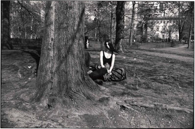 Garry Winogrand, 'Untitled from the Women Are Beautiful Series ( Man and Woman behind Tree in Central Park)', 1975-1981