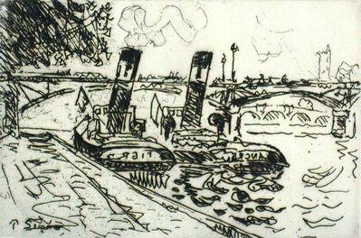 Paul Signac, 'Paris: Le Pont des Arts avec Remorqueurs', 1927