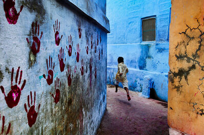 Steve McCurry, 'BOY IN MID-FLIGHT, JODHPUR, INDIA', 2007