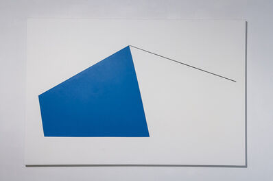 Leon Polk Smith, 'yonder blue', 1991