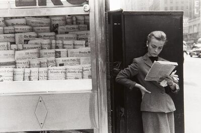Louis Stettner, 'Elbowing an Out of Town Newsstand', 1954