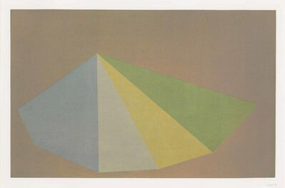 Sol LeWitt, 'Plate 2, from: Pyramids', 1987