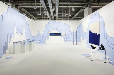 Lily van der Stokker, 'Blue Blob Drop Wallpainting', 2014
