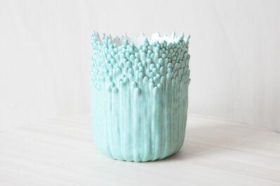 Cécile Bichon, 'Cache-pot ascensionnel floral celadon ', 2019