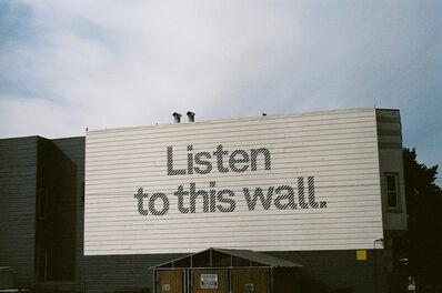 Lucía Mara, 'Listen to this wall, San Francisco', 2013