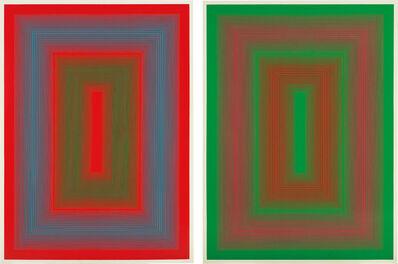 Richard Anuszkiewicz, 'Reflections II - Red Line; and Reflections II - Green Line', 1979