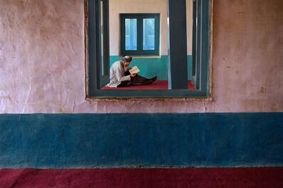 Steve McCurry, 'Man in Bamiyan Mosque, Afghanistan'