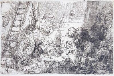 Rembrandt van Rijn, 'La circoncision dans l'étable', 1654
