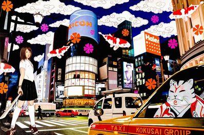 Hiro Ando, 'samuraicat in kokusai taxi', 2011