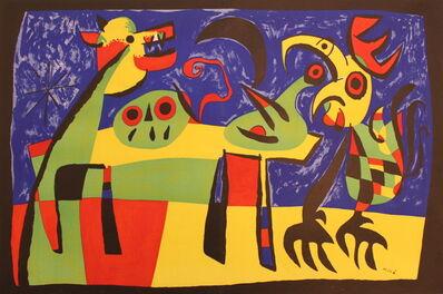Joan Miró, 'Perro Ladrando a la Luna', 1953