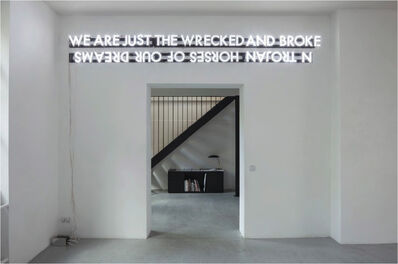 Robert Montgomery, 'Trojan Horses of Our Dreams', 2014