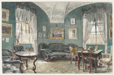 Alexander Benois, 'The Study of Czar Alexander II Nikolaivitch, Gatchina Palace, St. Petersburg', 1920s