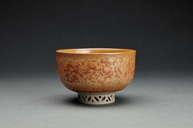 Miraku Kamei XV, 'Tea bowl (chawan), shippo design openwork foot', ca. 2019