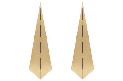 Gabriella Crespi, 'Pair of Brass Obelisks in the Manner of Gabriella Crespi', ca. 1970