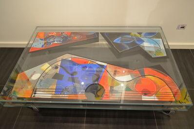 Yoël Benharrouche, 'Yoël Benharrouche TABLE with 3 Original Artworks', 2013