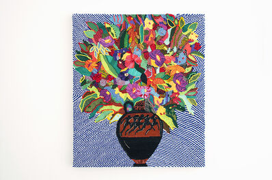 Caroline Larsen, 'Terracotta Panathenaic with Flowers', 2018