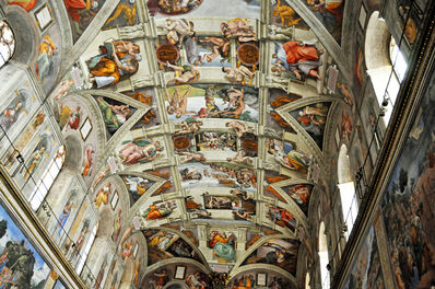 Michelangelo Buonarroti, 'Sistine Chapel Ceiling Frescoes', 1508-1512