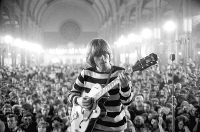 John 'Hoppy' Hopkins, ''A Concentrated Solo', Brian Jones around 4am, at 'All-Nighter', Alexandra Palace, London', 1964