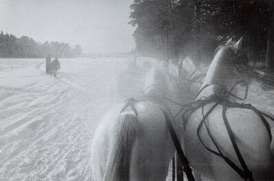 Inge Morath, 'Sleigh Horses, Moscow', 1965