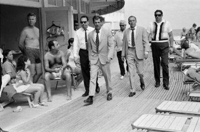 Terry O'Neill, 'Frank Sinatra and entourage on Miami Beach', 1968