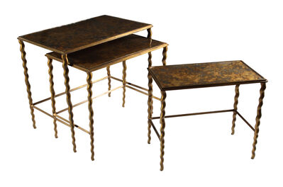 Attributed to Maison Jansen, 'A set of three 1950s French nesting side tables'
